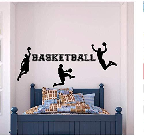 Wandaufkleber Wandbilder Wandtattoo Abziehbilder Basketball Wohnkultur Jungen Mann Kinder Poster Name Raum 42X94cm