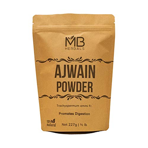 MB Herbals Ajwain Powder 227 Gram (Half Pound) | Carom Seed Powder | Trachyspermum ammi | Gluten Free | Non GMO | Supports Healthy Digestion | Promotes Hair Growth