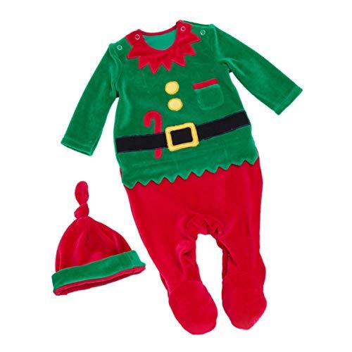 VALICLUD Bebé Niño Niña Traje de Navidad Elfo Mono con Sombrero Niño Niños Niñas Traje de...