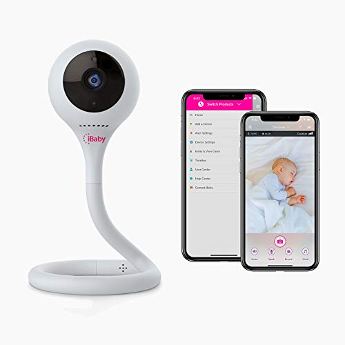 iBaby Smart WiFi Baby Monitor M2C, 2.4GHz, 1080P Camera, Infrared Night Vision, Flexible Base, Two Way Talk, Split Screen, Remote Smartphone App for Android and iOS
