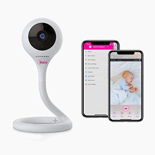 iBaby Smart WiFi Babyphone M2C, 2,4 GHz, 1080P-Kamera, Infrarot-Nachtsicht, flexible Basis, Zwei-Wege-Gespräch, geteilter Bildschirm, Remote-Smartphone-App für Android und iOS