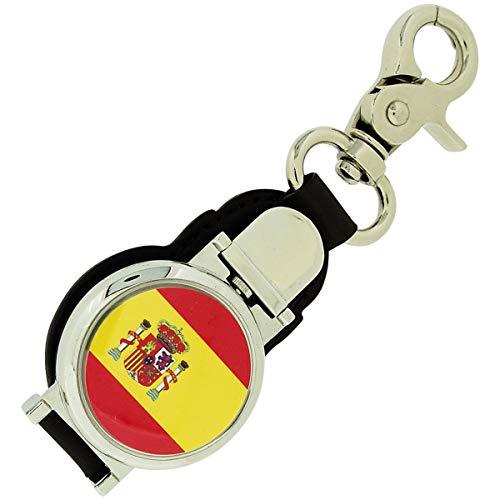 BOXX spanische Flagge Herren Schlüsselringuhr mit Magnetverschluss 348