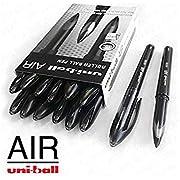 Uni-Ball Air Micro Tintenroller, 0,5mm fein–12er-Pack + 2 Stück–schwarz –UBA-188-M