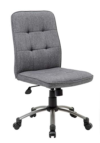 Boss Office Products (BOSXK) Ergonomic Office Chair, Fabric, Slate Gray