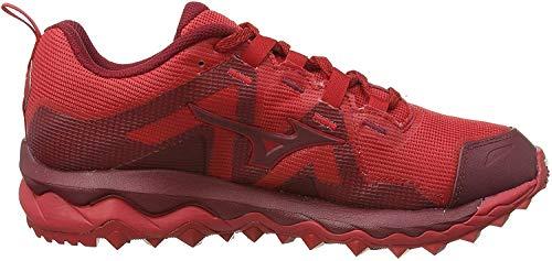 Mizuno Wave Mujin 6, Zapatillas de Running para Asfalto para Hombre, Rojo (Cred/Biking Red 56), 40.5 EU