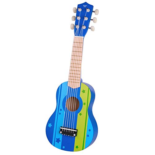 Pidoko Kids Wooden Toy Guitar Ukulele -...