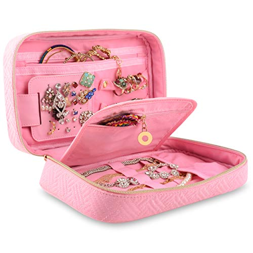 Travel Jewelry Organizer, Hanging Case, Closet Display Leather Bags, Foldable Cases For Earring Jewelry, necklace Jewelry, bracelet Jewelry, hanging Jewelery For Women