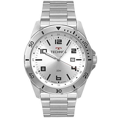 Relógio Technos, Pulseira de Aço, Masculino, Prata
