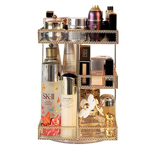 GYY Boîte de Rangement en Verre en métal résistant à la poussière, boîte de Rangement en Verre Multi-Fonctionnelle pour Produits de Soins de la Peau, boîte de Rangement pour cosmétiques