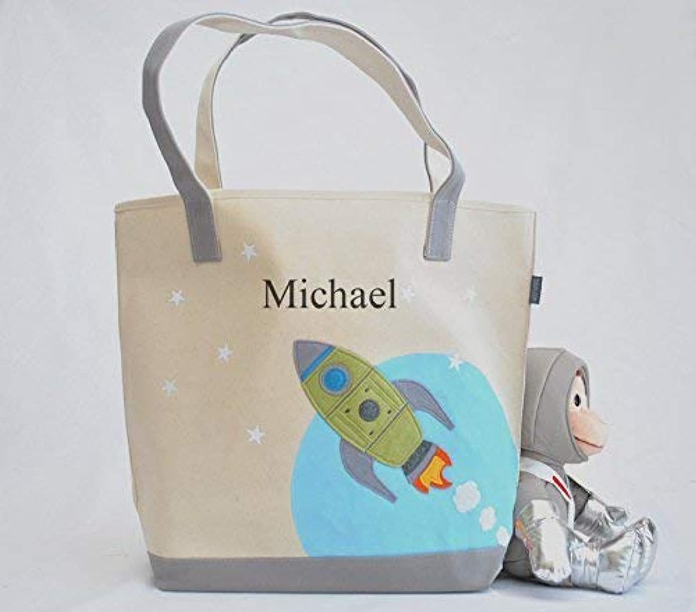 Large Rocket Tote| Personalized Library bag| Space tote | Boys Preschool tote uqc5551046