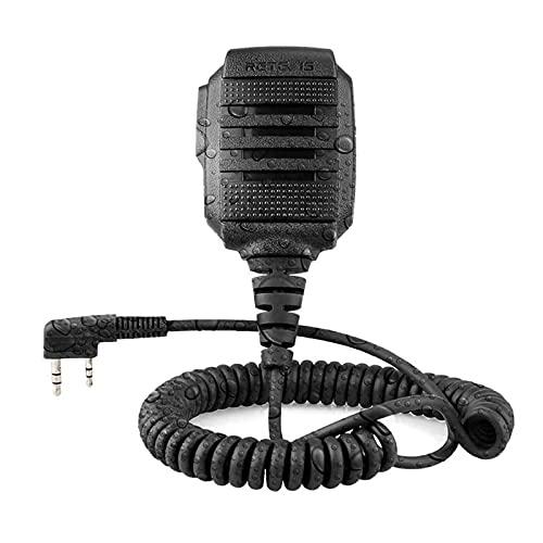 Retevis 2 Pine Micrófono Altavoz de Walkie Talkie IP54 Impermeable Compatible con Walkie Talkies Retevis RT5R RT24 RT27 RT81 Baofeng UV-5R BF-888S Kenwood TYT HYT WOUXUN (1 Pack)