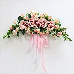 Artificial Wreath Door Threshold Diy Wedding Home Living Room Party Pendant Wall Decor Christmas Garland Gift Rose Peony,D1