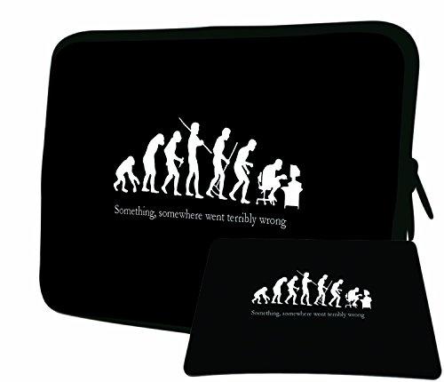 """LUXBURG 14"""" Pouces de Luxe Housse Sacoche Pochette pour Ordinateur Portable/Tablet Plus Tapis De Souris pour Apple Acer ASUS Chromebook Dell HP Lenovo Samsung Sony Toshiba"""
