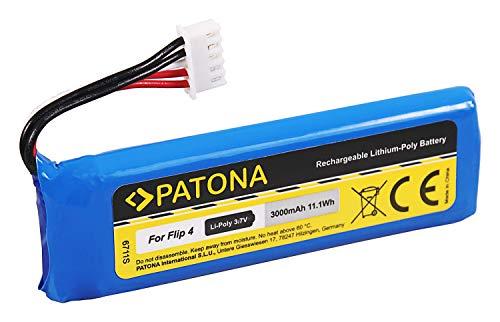 PATONA - Batería de repuesto para JBL GSP872693 01 (3000 mAh, compatible con JBL Flip 4)