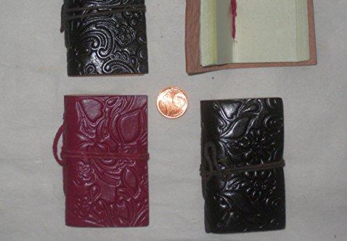 LederBücher A8 Set mit 4 Minibüchern aus handgeschöpftem Büttenpapier