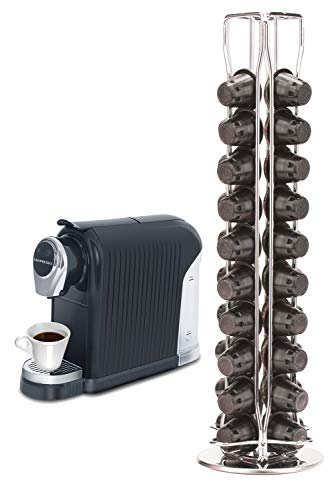 Mixpresso Capsule Spinning Carousel Holder I 360 Degree Rotatable Coffee Capsules Holder Rack I Solid Base | Holds 40 Coffee Pods | Easy Access I From Top or Base I Ideal-for Home & Office