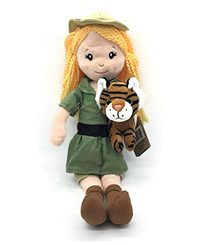 The Petting Zoo Zookeeper Doll with Small Tiger Stuffed Animal- Great Gifts for Girls, Plush Doll with Blonde Hair-16 Inches