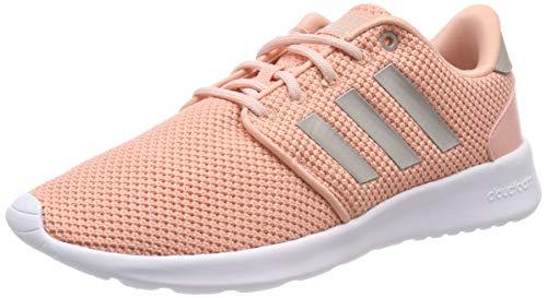 adidas Qt Racer, Zapatillas de Running Mujer, Rosa (Dust Pink/Platinum Met./Cloud White Dust Pink/Platinum Met./Cloud White), 38 2/3 EU
