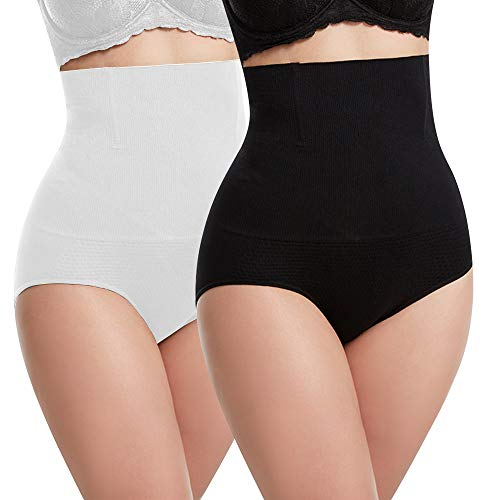 Libella Damen figurenformend Miederslip mit Bauch-Weg-Effekt 3608 Weiß/Schwarz M/L