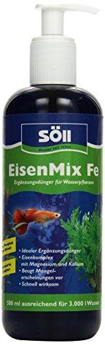 Söll EisenMix Fe Aquarium Ergänzungsdünger für Wasserpflanzen Phosphatfrei und Nitratfrei, 500 ml