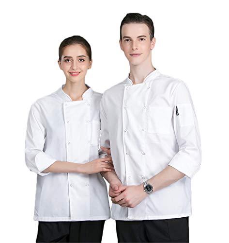 WYCDA kookjack lange mouwen heren en dames meerdere kleuren rood blauw wit zwart katoen chef's shirt met lange mouwen geschikt voor hotel restaurant Home Tea House
