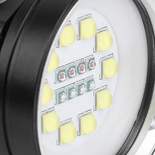Haowecib Antorcha de Buceo LED, Linterna portátil con Material de Aluminio de aviación para buceador para bucear