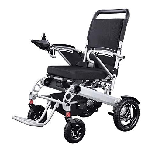 RDJM Rollstuhl faltbar Elektrorollstuhl, luxuriöser Offroad-Walker mit 4 Stoßdämpfern, Doppelmotoren, 20-Ah-Lithiumbatterie mit Neuer Energie, Armlehnen können geöffnet und geschlossen Werden