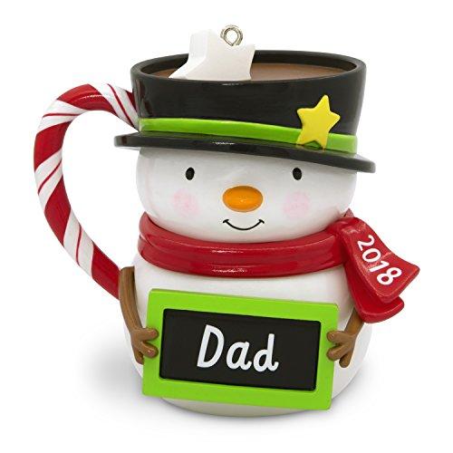 Hallmark Keepsake Christmas Ornament 2018 Year Dated, Dad Snowman Mug