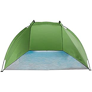 Outdoorer Helios beach shelter, UV 60, extremely light, small pack size (green):Thecricketmaster