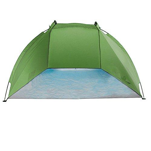 outdoorer Strandmuschel Helios Grün – Leichte Reise-Strandmuschel mit Minipackmaß und UV80