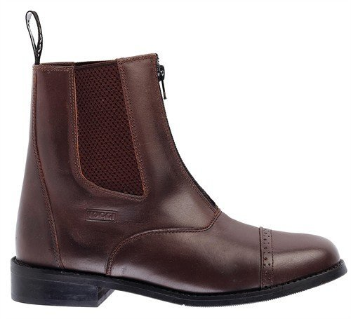 Toggi Augusta Zip-up Leather Jodhpur Boot In Brown, Size: 11 by William Hunter Equestrian