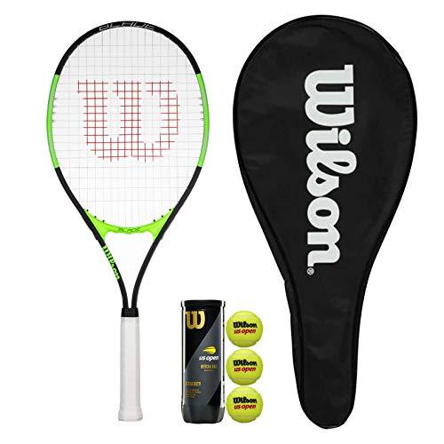 Wilson Blade Excel 112 - Raqueta de tenis con funda y 3 pelotas de tenis