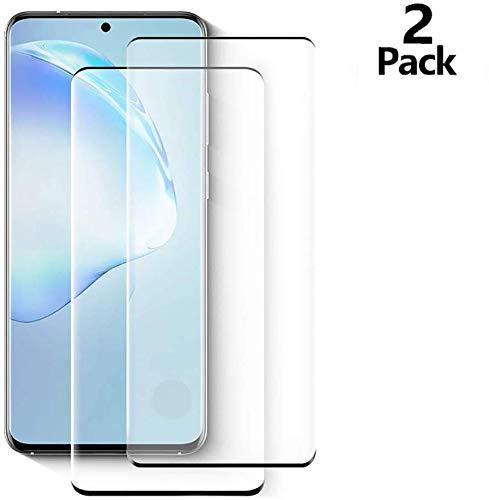 Verre Trempé Galaxy S20 [Lot de 2], [Compatible avec Le Capteur D'empreinte Digitale] [9H Dureté] Protection écran pour Samsung Galaxy S20 5G (6.2')