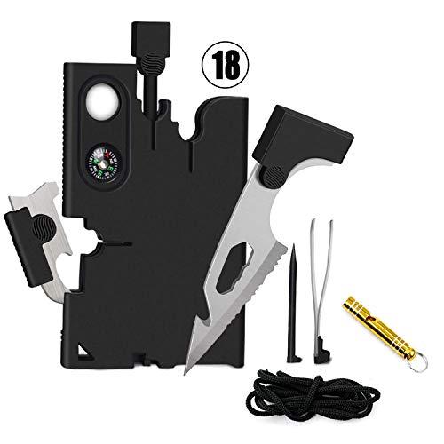 Survival Kit Vergleichssieger 2021 , Multifunktionale Karte Tool, Vatertagsgeschenk, Geschenke für Männer Kreditkarte Tool Outdoor Survival Pocket Toola fürs Campen Oder Wandern