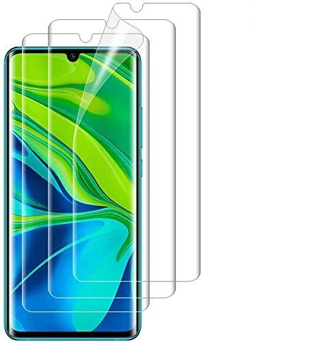 ANEWSIR 3 Stück Schutzfolie Kompatibel mit Xiaomi Mi Note 10/Mi Note 10 Pro/Mi Note 10 Lite Bildschirmschutzfolie, Weiche TPU Folie HD-klar Bildschirmschutz, Blasenfreie, Folie Bildschirmschutzfolie.
