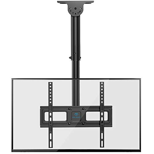PERLESMITH Ceiling TV Mount- Full Motion Hanging TV Mount Bracket Fits 26-55 Inch LCD LED OLED 4K TVs, Flat Screen Display-TV Pole Mount Holds up 99lbs with VESA 400x400mm