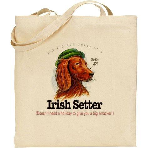 AB humoristique – Setter Irlandais pour chien Sac en coton naturel