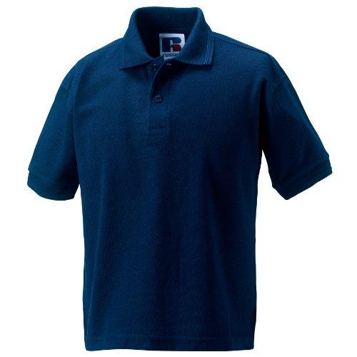 Jerzees Schoolgear langlebiges Polo Shirt für Kinder (2 Stück/Packung) (9-10 Jahre (140)) (Marineblau)