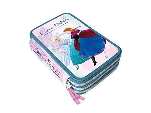 Disney Frozen 2 - Astuccio Scuola 3 Cerniere Completo di Cancelleria Giotto Fila