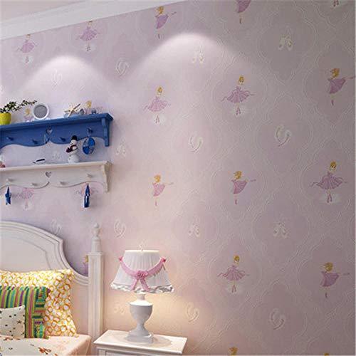Wandbild Fototapete Warme Kinderzimmer Tapete Modernes Schweres Tuch Vlies Ballerina Mädchen Schlafzimmer Cartoon Wand400X280Cm