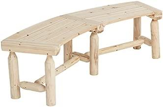 Cedar/Fir Log Firepit Bench, Model# T-24N333MB02