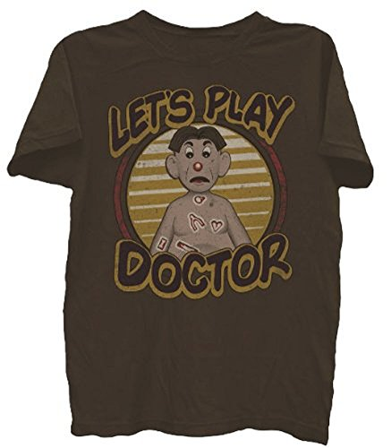 Operación Let 's Play médico envejecido Braun Erwachsene camiseta Tee Marrón marrón XX-Large