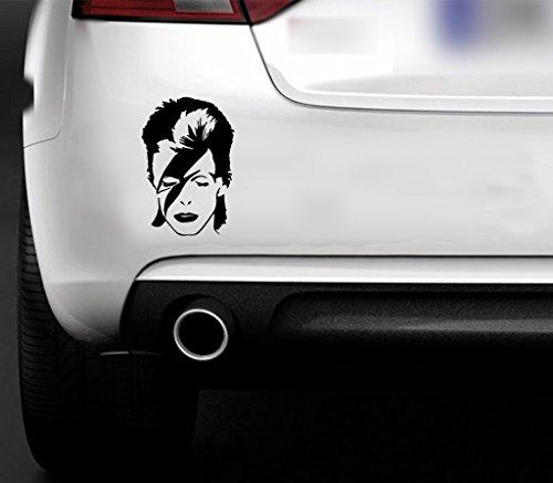 Adhesivo de vinilo con diseño de Ziggy Stardust de David Bowie para coche, furgoneta, barco y ventanas