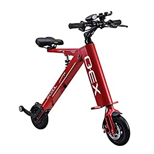 Electric Bikes L.HPT Mini Folding Electric Car Adult Lithium Battery Bicycle Double Wheel Power Portable Travel Battery Car [tag]