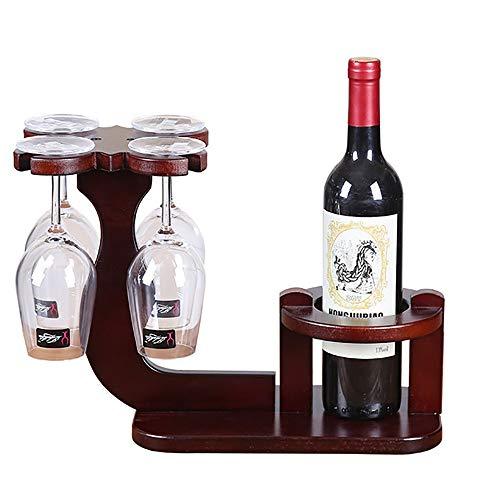Support en Bois Massif Vin, Porte-Creative Coupe Hanging Wine Rack Accueil Décorations Intérieur Wine Rack Convient pour Bar Cave À Vin sous-Sol