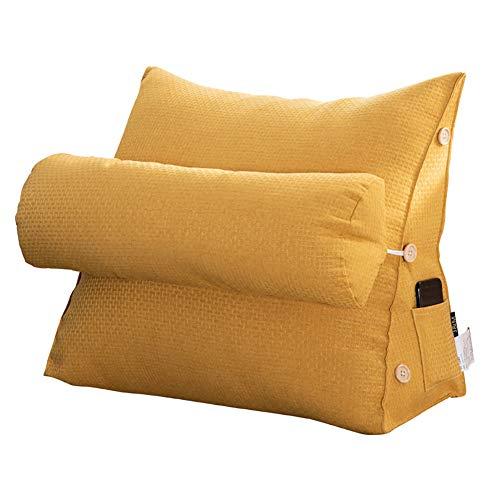 TOPY verstelbare driehoek rugkussen kussen, zacht gevulde wigkussen voor bed stoel rugleuning met zak, positionering ondersteuning lezen kussen