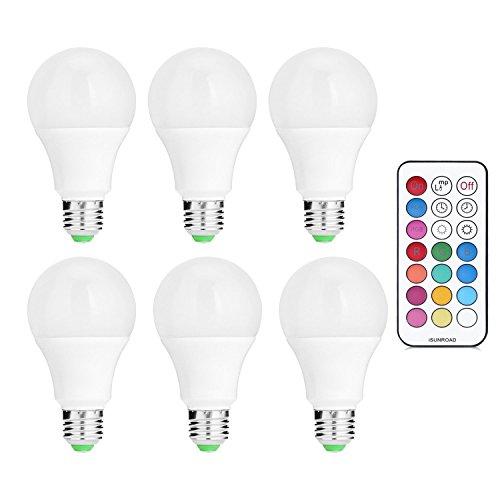 GYW-YW LED Bombilla Bombilla Bombillas LED E26 / E27 10W Regulable de Recambio Equivalente 90W lámpara halógena Cambio de Color RGB de iluminación de la lámpara Colorida de Vacaciones, Ambiente, Bar,