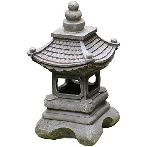Jardin Solaires Japonais Zen Lights Ornement La Lanterne Pagode Eclairage Décoration Pour Jardinage Extérieur Statue Luminaires Paysage Solaire Villa Cour Décoratives