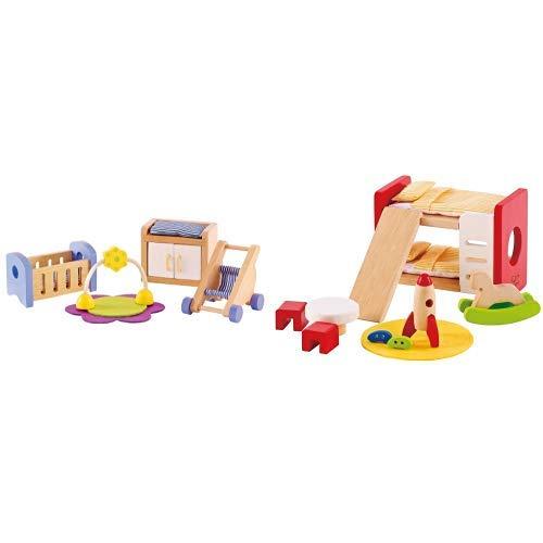 Hape E3459 - Babyzimmer &  E3456 - Kinderzimmer