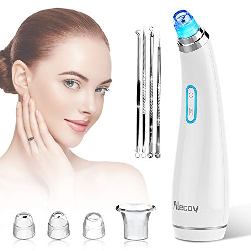 Blackhead Remover Vacuum - USB Rechargeable Blackhead Suction Device with 4 Adjustable Suction Levels and 4 Removable Probes - Pore Vacuum Suction Acne Extractor for Women and Men